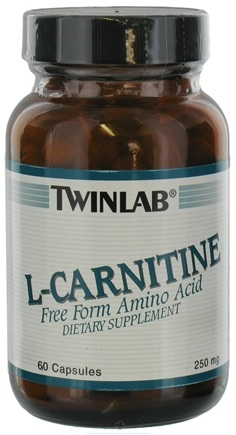 DROPPED: Twinlab - L-Carnitine Free Form Amino Acid 250 mg. - 60 Capsules CLEARANCE PRICED