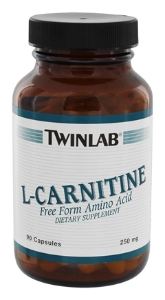 DROPPED: Twinlab - L-Carnitine Free Form Amino Acid 250 mg. - 90 Capsules CLEARANCE PRICED