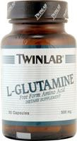 DROPPED: Twinlab - L-Glutamine 500 mg. - 50 Capsules