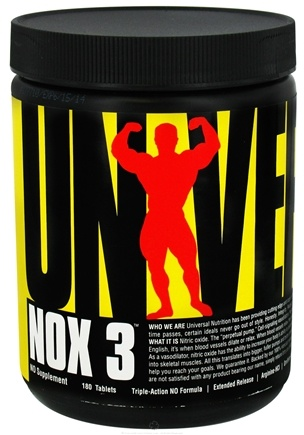 DROPPED: Universal Nutrition - NOX3 - 180 Tablets CLEARANCED PRICED