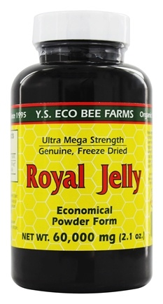 YS Organic Bee Farms - Pure Royal Jelly Powder 60000 mg. - 2 oz.
