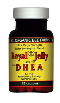 DROPPED: YS Organic Bee Farms - Royal Jelly with DHEA 1400 mg. - 35 Capsules