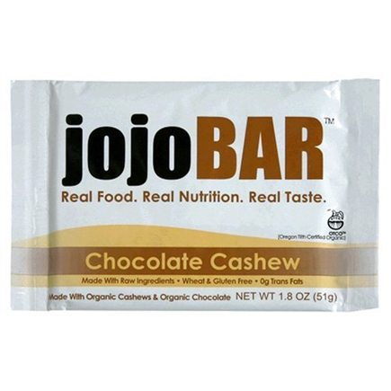 DROPPED: Vital NRG - Jojo Organic Food Bar Wheat & Gluten Free Chocolate Cashew Flavor - 1 Bars