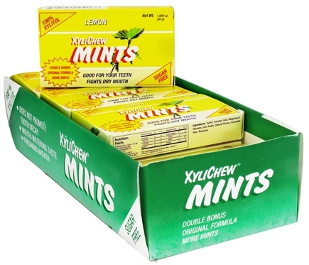 DROPPED: XyliChew - Mints Sugar Free 100% Xylitol Lemon - 50 Piece(s)