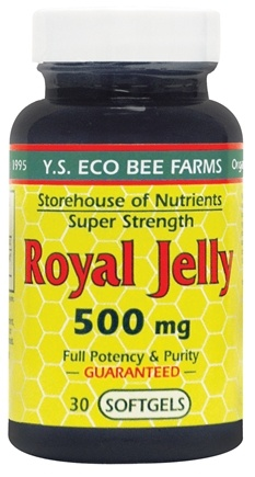 DROPPED: YS Organic Bee Farms - Royal Jelly Softgels 500 mg. - 30 Softgels CLEARANCE PRICED