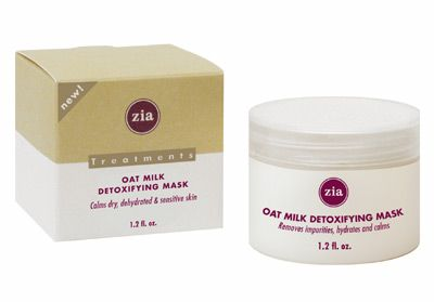 DROPPED: Zia - Oat Milk Detoxifying Mask(Clarifying treatment for dry or sensitive skin.) - 1.2 oz.
