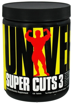 DROPPED: Universal Nutrition - Super Cuts 3 - 130 Tablets CLEARANCE PRICED