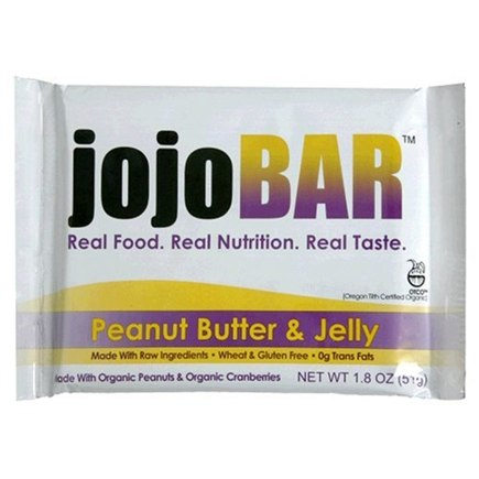 DROPPED: Vital NRG - Jojo Organic Food Bar Wheat & Gluten Free Peanut Butter & Jelly Flavor - 12 Bars