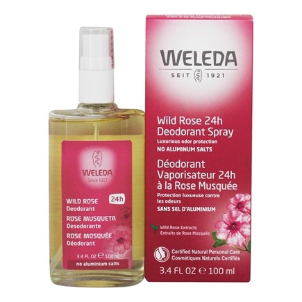 Weleda - Deodorant Spray Wild Rose Scent - 3.4 oz.