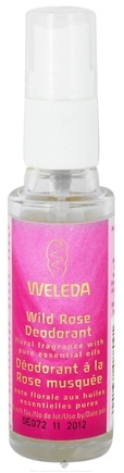 DROPPED: Weleda - Deodorant Spray Wild Rose Scent Travel Size - 1.02 oz.