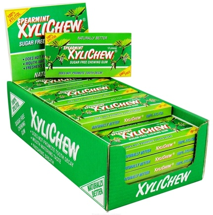 DROPPED: XyliChew - Sugar Free Chewing Gum Spearmint - 12 Piece(s)