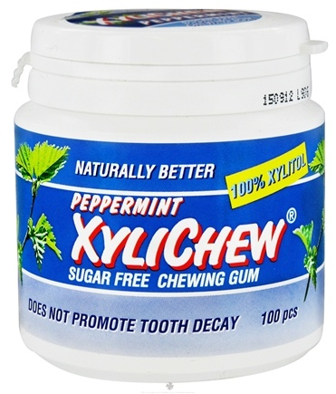 DROPPED: XyliChew - Chewing Gum Sugar Free Peppermint - 100 Piece(s)