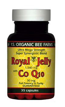 DROPPED: YS Organic Bee Farms - Royal Jelly+ Coq10 (1 890Mg Royal Jelly+ 30Mg Coq10) - 35 Capsules