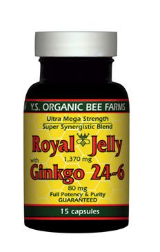 DROPPED: YS Organic Bee Farms - Royal Jelly+Ginkgo 24-6 (1 715Mg Royal Jelly+80Mg Ginkgo) - 15 Capsules