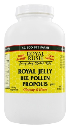 YS Organic Bee Farms - Royal Rush 21 Royal Jelly Drink Mix 700 mg. - 11 oz.