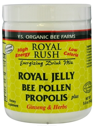 DROPPED: YS Organic Bee Farms - Royal Rush Royal Jelly Energizing Drink Mix 800 mg. - 5 oz.