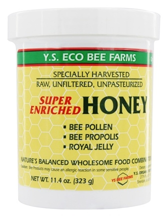 YS Organic Bee Farms - Super Enriched Honey 16000 mg. - 11 oz.
