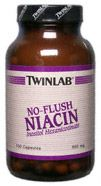 DROPPED: Twinlab - No-Flush Niacin 800 mg. - 100 Capsules