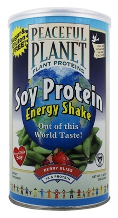 VegLife - Peaceful Planet Soy Protein Energy Shake Berry Bliss - 11.8 oz.
