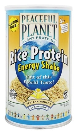 VegLife - Peaceful Planet Rice Protein Energy Shake African Vanilla - 11.7 oz.