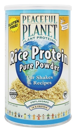 VegLife - Peaceful Planet Rice Protein Pure Powder Unflavored - 20.4 oz.