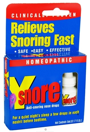 DROPPED: Y-Snore - Y-Smore Homeopathic Anti-Snoring Nose Drops - 5 ml. CLEARANCE PRICEED
