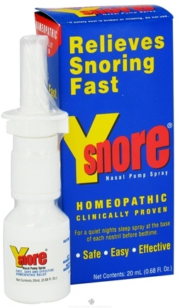 DROPPED: Y-Snore - Y-Snore Homeopathic Nasal Pump Spray - 20 ml.
