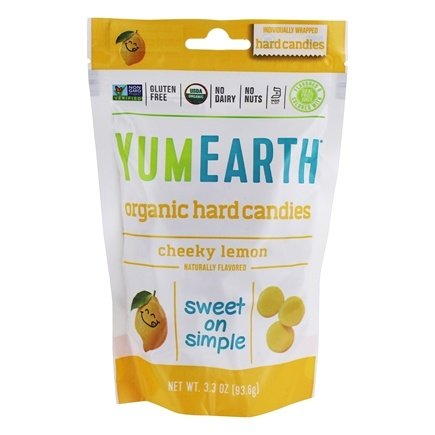 Yummy Earth - Organic Candy Drops Gluten Free Cheeky Lemon Flavor - 3.3 oz. (93.5g)
