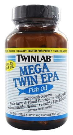 Twinlab - Mega Twin EPA Fish Oil 1200 mg. - 60 Softgels