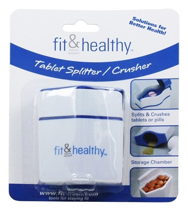 Fit & Fresh - Fit & Healthy Tablet Pill Splitter And Crusher - formerly by Vitaminder