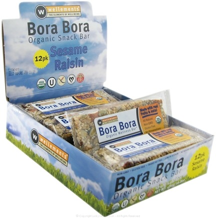 DROPPED: Wellements - Bora Bora Organic Snack Bar Sesame Raisin - 1.4 oz.
