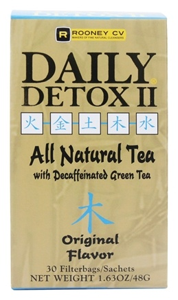 Wellements - Daily Detox II All Natural Tea Original - 30 Tea Bags