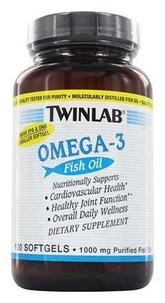 Twinlab - Omega-3 Fish Oil 1000 mg. - 100 Softgels