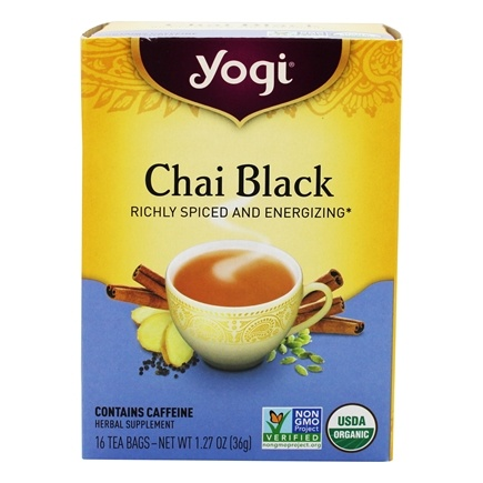 Yogi Tea - Chai Black with Organic Assam Tea - 16 Tea Bags