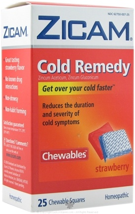 DROPPED: Zicam - Cold Remedy Chewables Strawberry - 25 Chewables