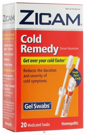 DROPPED: Zicam - Cold Remedy Liquid Nasal Gel Swabs - 20 Swab(s)