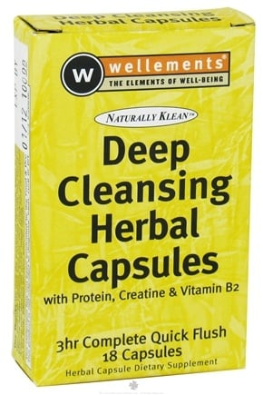 DROPPED: Wellements - Naturally Klean Deep Cleansing Herbal Capsules - 18 Capsules CLEARANCE PRICED