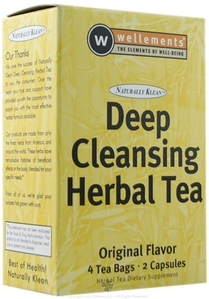 DROPPED: Wellements - Naturally Klean Deep Cleansing Herbal Tea Kit Original - CLEARANCE PRICED