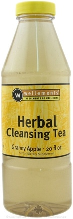 DROPPED: Wellements - Liquid Herbal Cleansing Tea Granny Apple Flavor - 20 oz. CLEARANCE PRICED