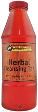 DROPPED: Wellements - Liquid Herbal Cleansing Tea Red Raspberry Flavor - 20 oz. CLEARANCE PRICED