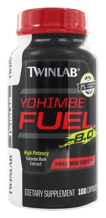 DROPPED: Twinlab - Yohimbe Fuel 8.0 Yohimbe Bark Extract 400 mg. - 100 Capsules