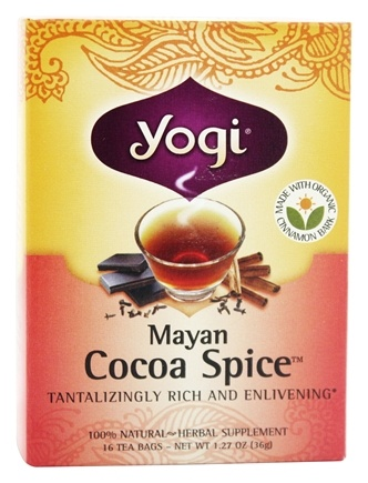Yogi Tea - Mayan Cocoa Spice Tea with Organic Cinnamon Bark - 16 Tea Bags