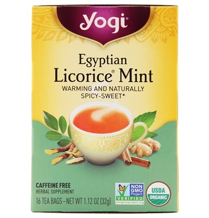 Yogi Tea - Egyptian Licorice Mint Organic Tea Caffeine Free - 16 Tea Bags