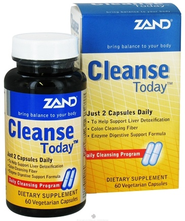 DROPPED: Zand - Cleanse Today - 60 Vegetarian Capsules CLEARANCE PRICED