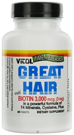 DROPPED: Vitol - Great Hair - 60 Tablets
