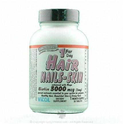 DROPPED: Vitol - Hair- Nails-Skin 1 per Day - 30 Tablets