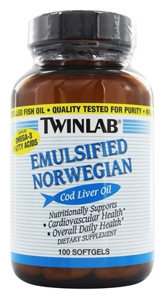 Twinlab - Cod Liver Oil Emulsified - 100 Softgels LUCKY PRICE