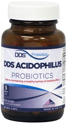 DROPPED: UAS Laboratories - DDS-60 Acidophilus - 60 Capsules CLEARANCE PRICED