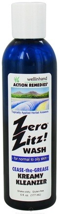 Wellinhand - Zero Zitz Wash Kreamy Kleanzer Cease the Grease Face and Body Wash - 6 oz.