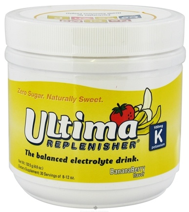 DROPPED: Ultima Health Products - Ultima Replenisher Drink 30 Servings Banana Berry - 4.6 oz.